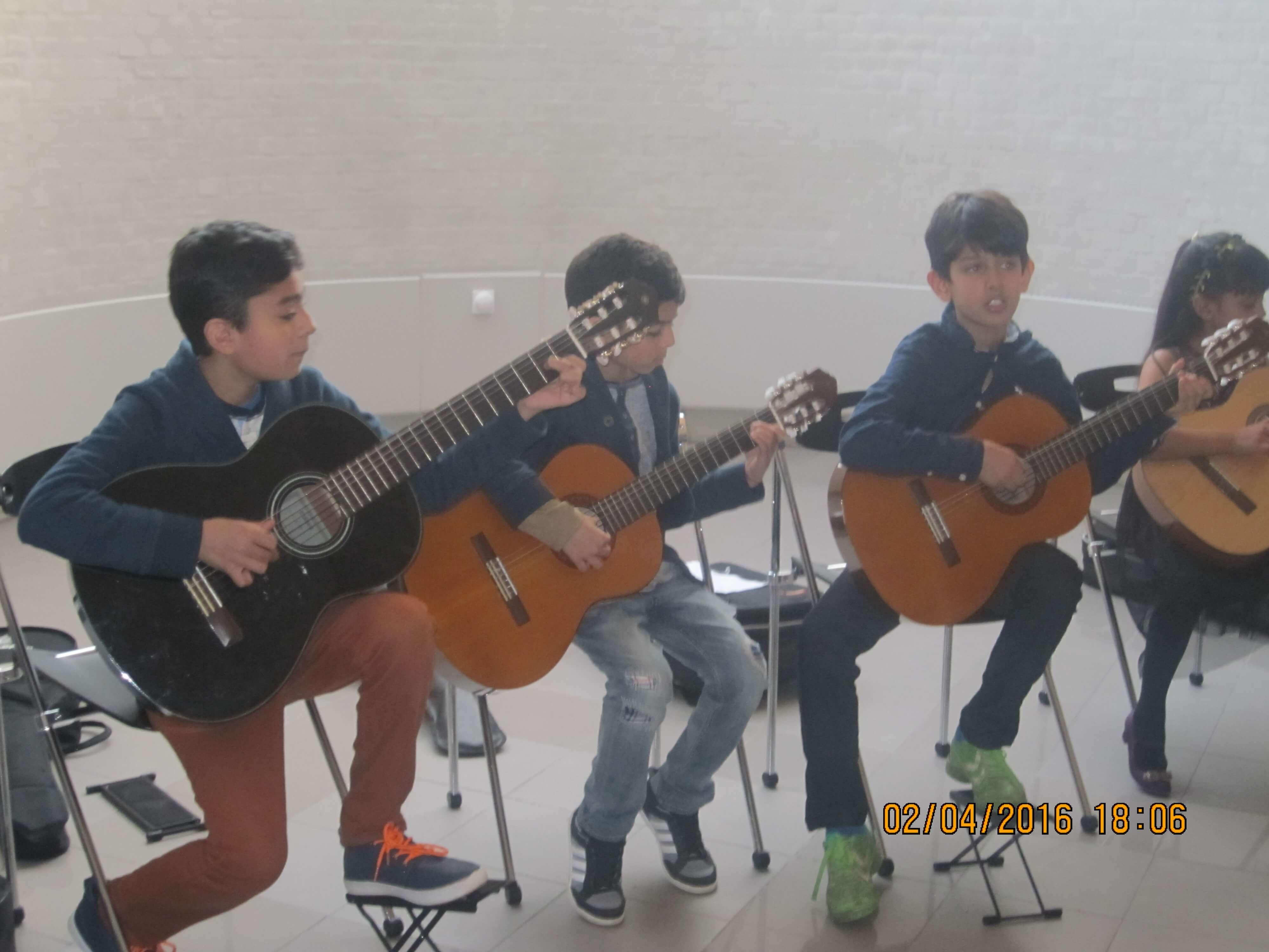 Trio in backstage