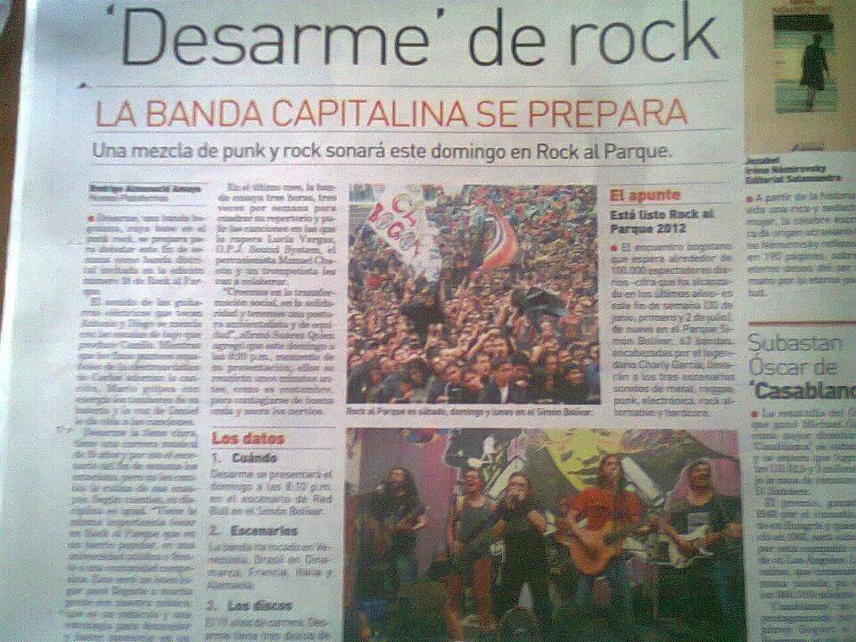 desarme news paper